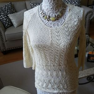 Lucky BRAND Ivory KNIT Layering TOP SZ XS